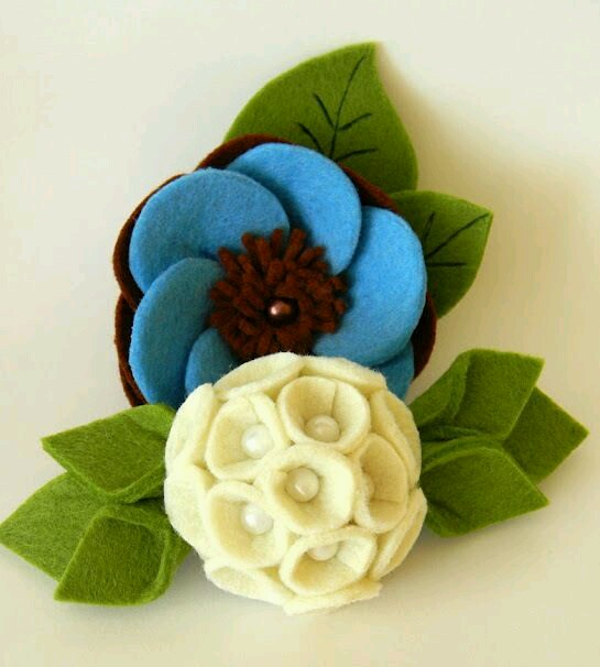 花朵不织布手工diy学习方法步骤